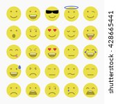 set of emoticons  emoji and... | Shutterstock .eps vector #428665441