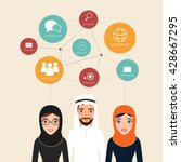 arab people communication with... | Shutterstock .eps vector #428667295