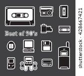 gadget of 90s  icon    Shutterstock .eps vector #428667421