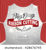 grand opening celebration... | Shutterstock .eps vector #428676745