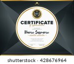 certificate vector template... | Shutterstock .eps vector #428676964