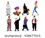 middle eastern people isolated... | Shutterstock .eps vector #428677015
