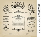 wedding design elements ... | Shutterstock .eps vector #428677837