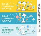 web banners cloud computing... | Shutterstock .eps vector #428679964