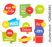 special offer sale tag discount ... | Shutterstock .eps vector #428681881