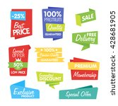 special offer sale tag discount ... | Shutterstock .eps vector #428681905