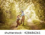 two little boys playing in the... | Shutterstock . vector #428686261