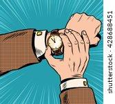 wrist watch retro pop art | Shutterstock .eps vector #428688451