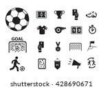 euro football with icon and... | Shutterstock .eps vector #428690671