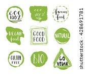 vector eco organic bio logos...   Shutterstock .eps vector #428691781