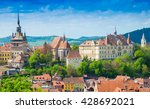 panoramic view over the...   Shutterstock . vector #428692021