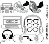 retro style graphic set  | Shutterstock .eps vector #428696119