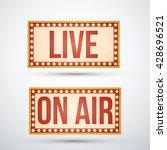 concept of radio show  audio... | Shutterstock .eps vector #428696521