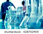 laboratory glassware background | Shutterstock . vector #428702905