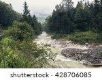 fast river stream in a mountain ... | Shutterstock . vector #428706085
