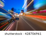 night city drive by car | Shutterstock . vector #428706961