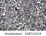 Silver Sequins Pattern Glitter...
