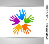 concept of community unity.... | Shutterstock .eps vector #428713501