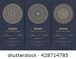 wedding invitation card arabic  ... | Shutterstock .eps vector #428714785