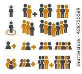 team work  crowd icon set | Shutterstock .eps vector #428720269