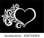 beautiful monochrome black and... | Shutterstock .eps vector #428724394