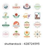 summer holidays design elements ... | Shutterstock .eps vector #428724595