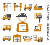 shipping  logistics icon set | Shutterstock .eps vector #428724991