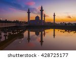 the sunrise image of mosque....   Shutterstock . vector #428725177