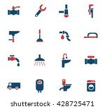 plumbing service web icons for... | Shutterstock .eps vector #428725471