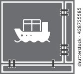 web line icon. cargo ship | Shutterstock .eps vector #428725585