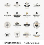 vintage logos design templates... | Shutterstock .eps vector #428728111