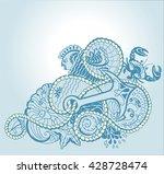 ornamental corners  sea pattern ... | Shutterstock .eps vector #428728474