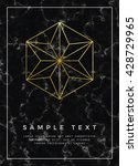 geometric design for poster ... | Shutterstock .eps vector #428729965