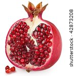 half of pomegranate fruit on a... | Shutterstock . vector #42873208