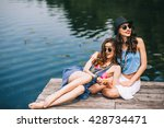 Two Beautiful Girl Friends On...