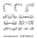 set of page decoration line... | Shutterstock .eps vector #428736415