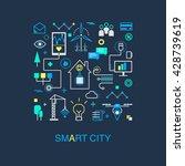 smart city vector concept.... | Shutterstock .eps vector #428739619