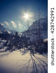 Small photo of High noon in winter High Tatra mountains, Poland