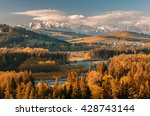 beautiful autumns panorama over ... | Shutterstock . vector #428743144