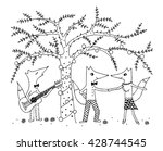 coloring page for kids. funny... | Shutterstock .eps vector #428744545