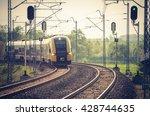Train On Double Railway Track ...