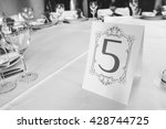Wedding Table With The Sign...