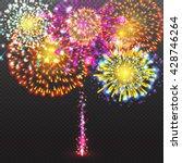 festive firework salute burst...   Shutterstock .eps vector #428746264