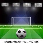 vector illustration of soccer... | Shutterstock .eps vector #428747785