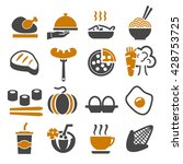 food icon set | Shutterstock .eps vector #428753725