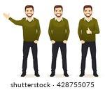 set of standing business men in ... | Shutterstock .eps vector #428755075