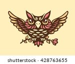 vector owl illustration | Shutterstock .eps vector #428763655