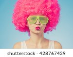 portrait of beautiful party... | Shutterstock . vector #428767429