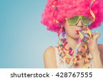 portrait of beautiful party... | Shutterstock . vector #428767555