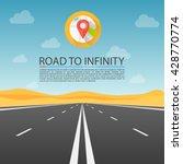 road to infinity highway  road...   Shutterstock .eps vector #428770774